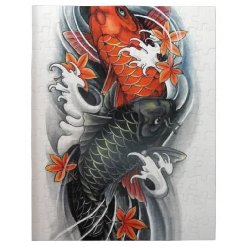 Japanese Red Black Koi Fish Tattoo Art Japanese Koi Fish Tattoo Koi Tattoo Design Black Koi Fish