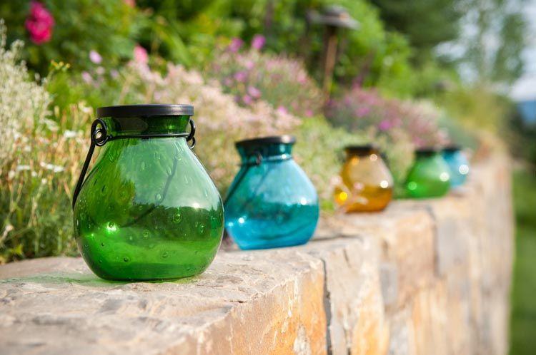Bubble Hand Blown Glass Lanterns! Www.allsopgarden.com