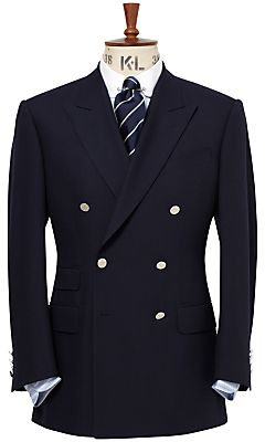 Chester Barrie Savile Row Chester Barrie Double-Breasted Blazer, Navy