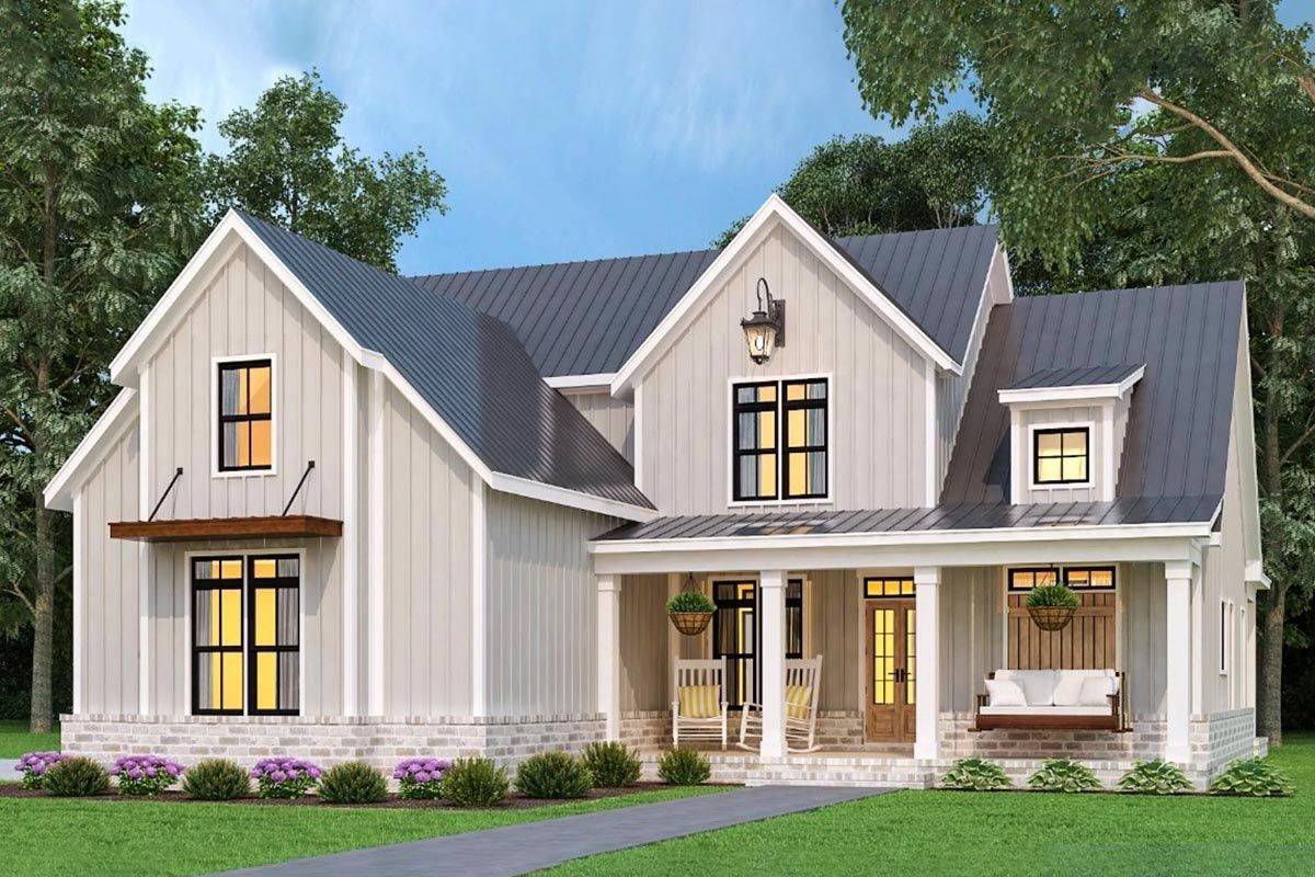 Plan 12319JL Exquisite TwoStory Home Plan with Rear Wrap