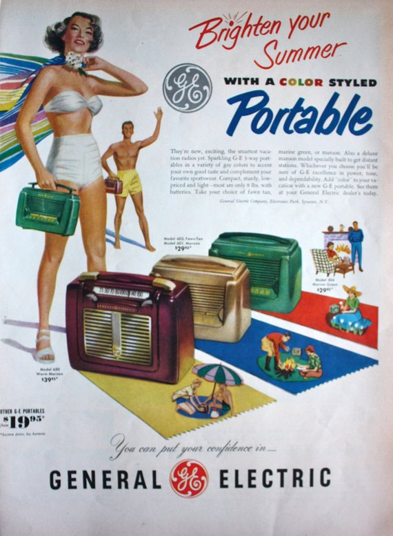 1965 General Electric Vintage Ad new never before