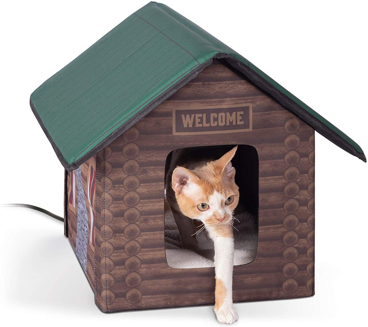 Outdoor Kitty House Insulated Cat Shelter Heated Or Unheated Cat Shelter Cat House Dog Pet Beds