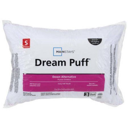 Mainstays Dream Puff 200 Thread Count Pillow in Multiple Sizes, White