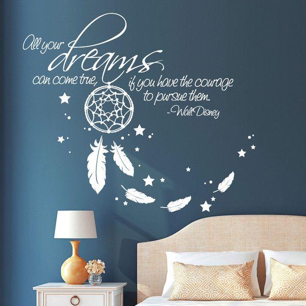 Wandtattoo Wandtattoo All Your Dreams Come True Traumfanger Ein Designerstuck Von Wandtattoo Loft Bei D Wandtattoo Wandtattoo Schlafzimmer Inspiration Wand