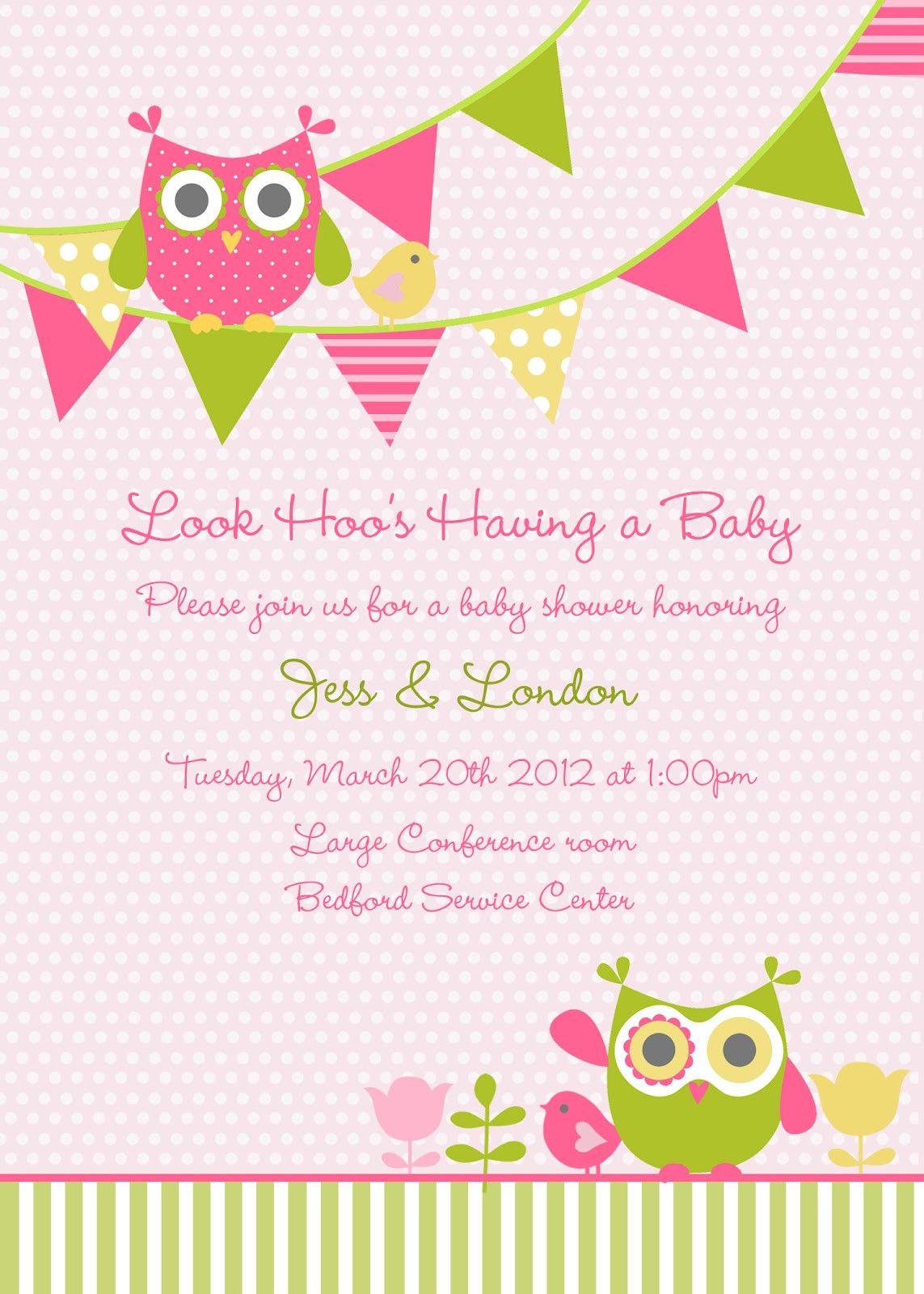 Baby Shower Potluck : shower, potluck, Potluck, Party, Invitations, Wording, Invitations,, Shower, Invite, Template