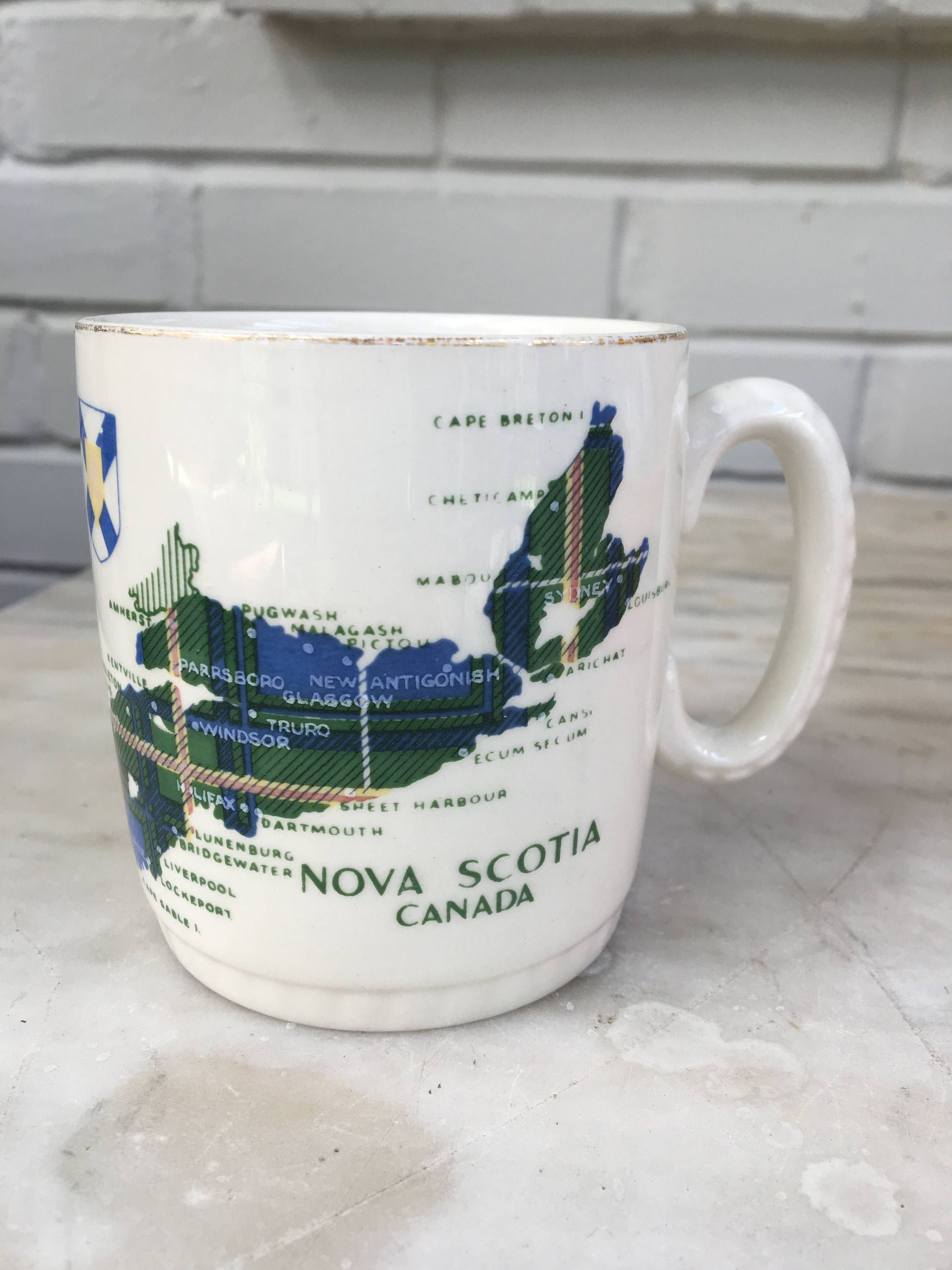 Gray Vintage Nova Scotia Canada Lord Nelson Made Coffee Vintage Nova Scotia Canada Lord Nelson Made England Porcelain Coffee Cup Silicone Lid Silicone Lid Porcelain Coffee Mug