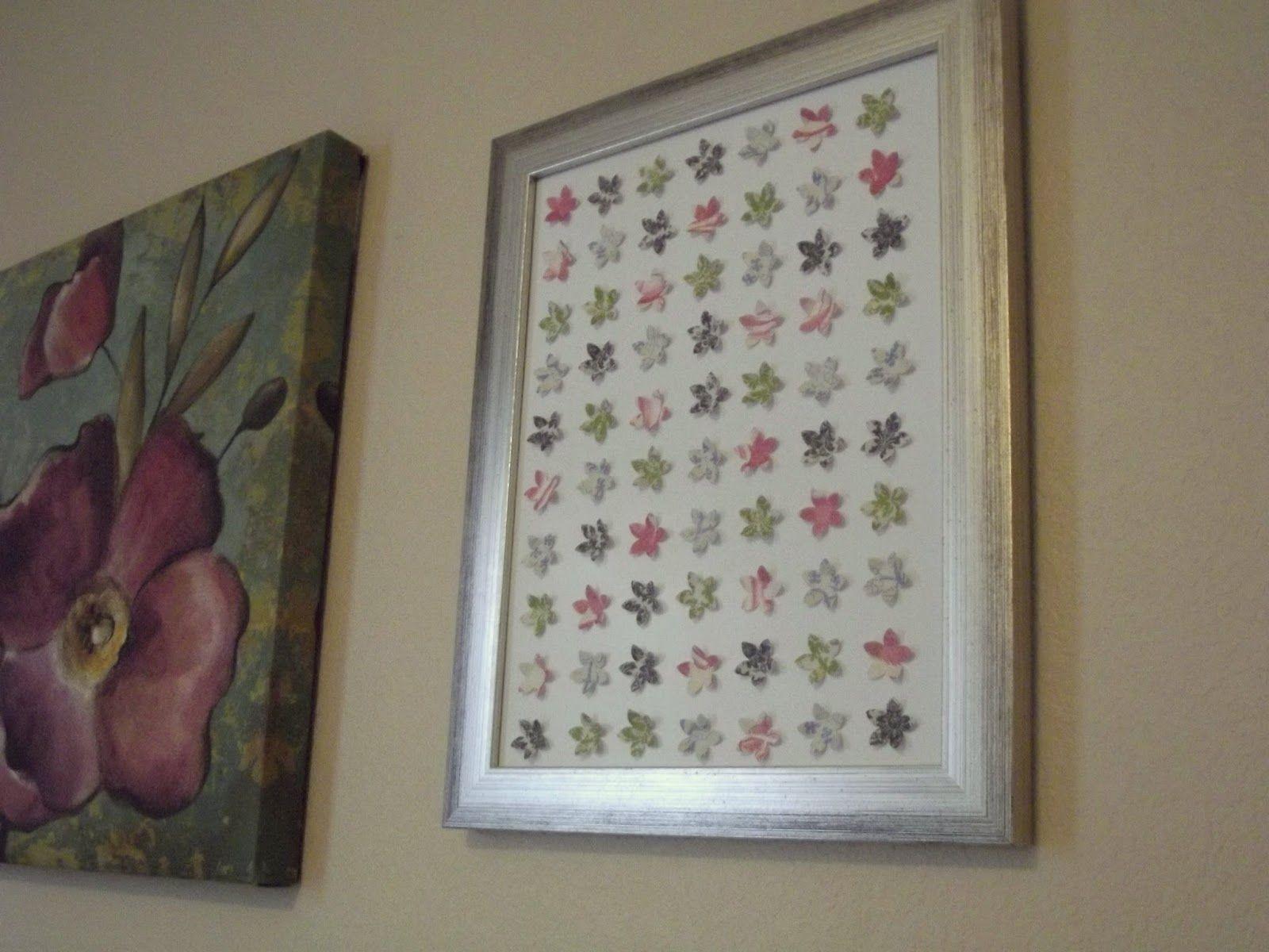 Scrapbook Paper Wall Art  Scrapbook Paper Flower Wall Art