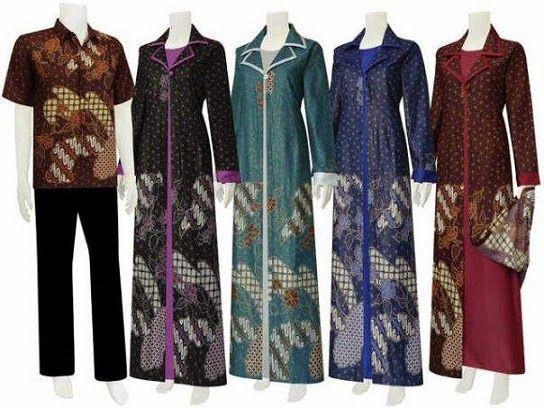 Aneka Model Baju Gamis Batik Terbaru Untuk Pesta Fashion