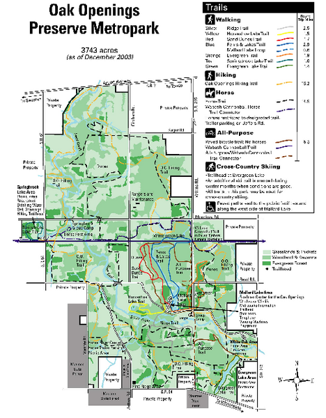 Oak Openings Metropark Map | MAPS   Local | Pinterest | Ohio