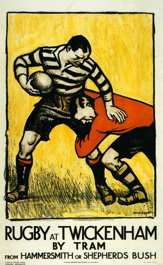 Rugby Rugby Poster Rugby Art Vintage Posters