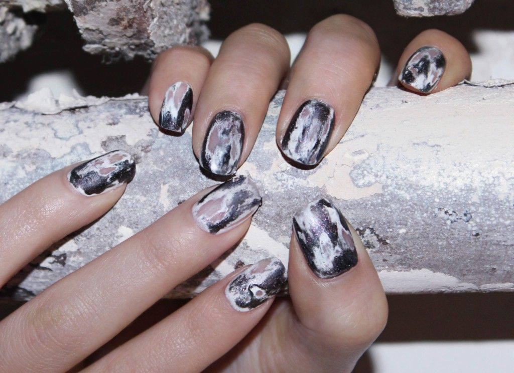 Jin Soon Nail Art Tutorial - How To Get Grunge Nails | Grunge nails ...
