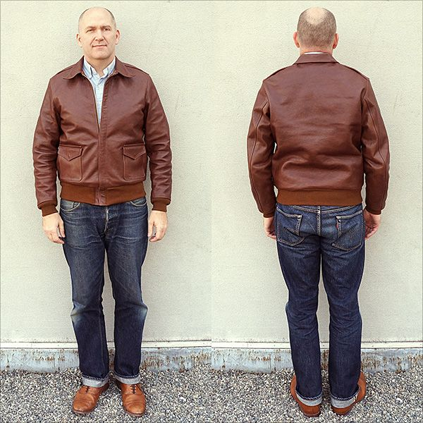 Good Wear Leather's David D. Doniger Type A-2 Full View