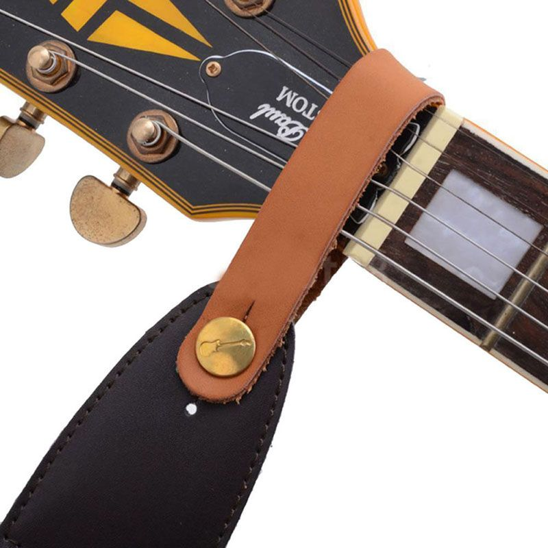 1pc Guitar Straps Faux Leather Strap Hook Button For Acoustic Folk Classic Guitar Durable Red Guitars Bas Leather Guitar Straps Guitar Strap Classic Guitar