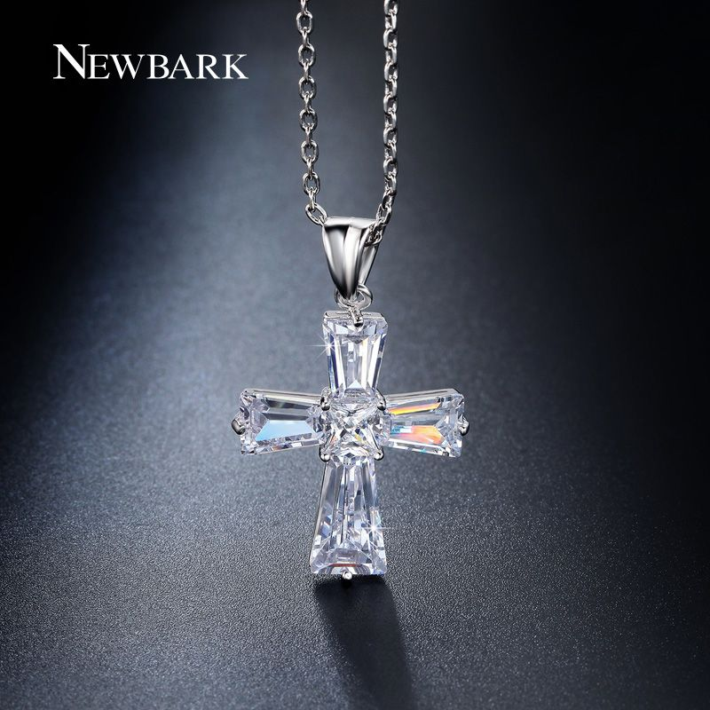 51b86a6f3 Find More Pendant Necklaces Information about NEWBARK Elegant Cubic Zircon  Cross…