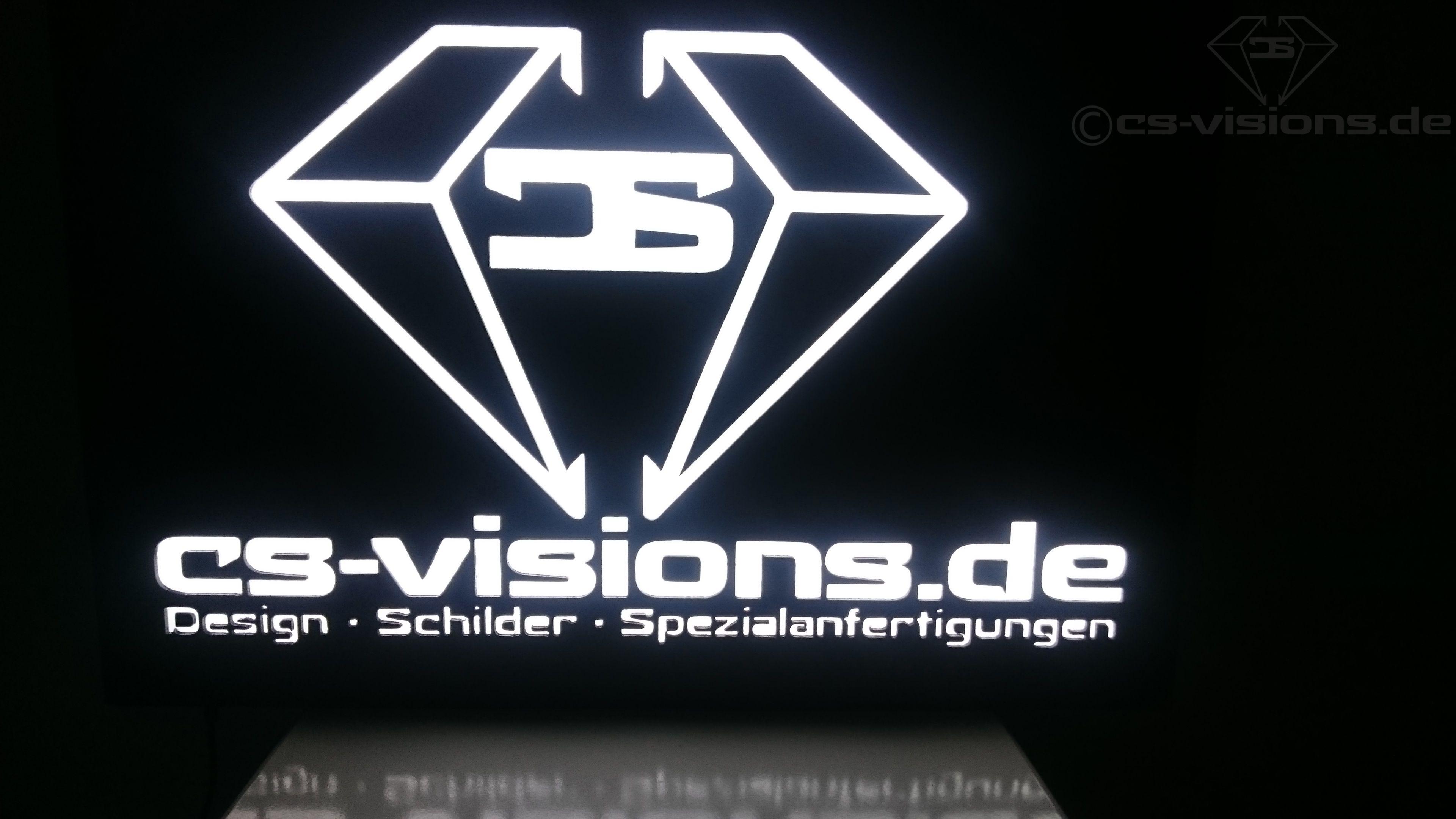 Werbeschild Aus Holz Aluminium Led Und Plexiglas Beleuchtet Anfertigung Nach Kundenwunsch Cs Visions De Werbeschilder Schilder Beleuchten