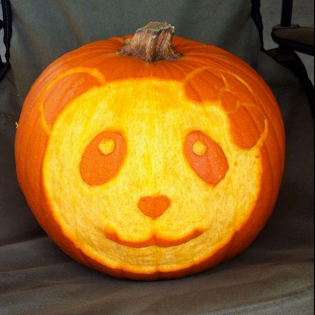 panda pumpkin! (totally doing this next halloween ) all things