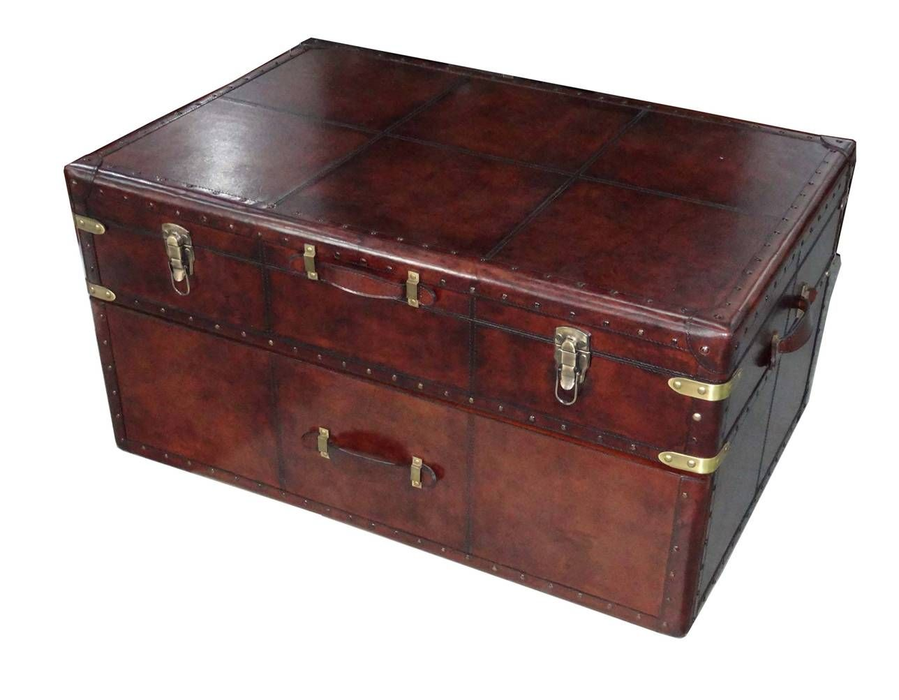 Leather Trunk Box Chest
