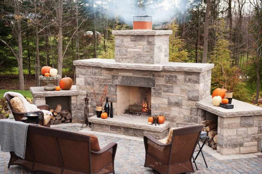 wood burning outdoor fireplace kits