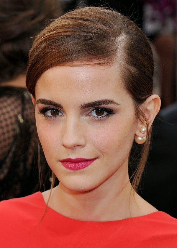 Emma Watson Wearing Uber Trendy Front Back Pearl Earrings