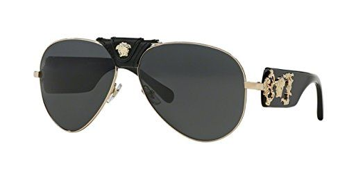12d0547a45f0 VERSACE VE 2150Q Sunglasses 100287 Gold 62-14-140