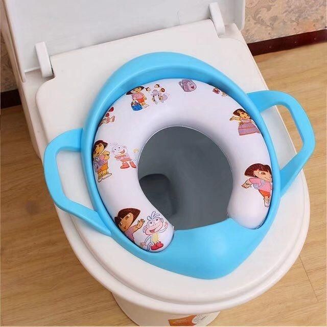 Baby Soft Toilet Training Seat Cushion Child Seat With Handles