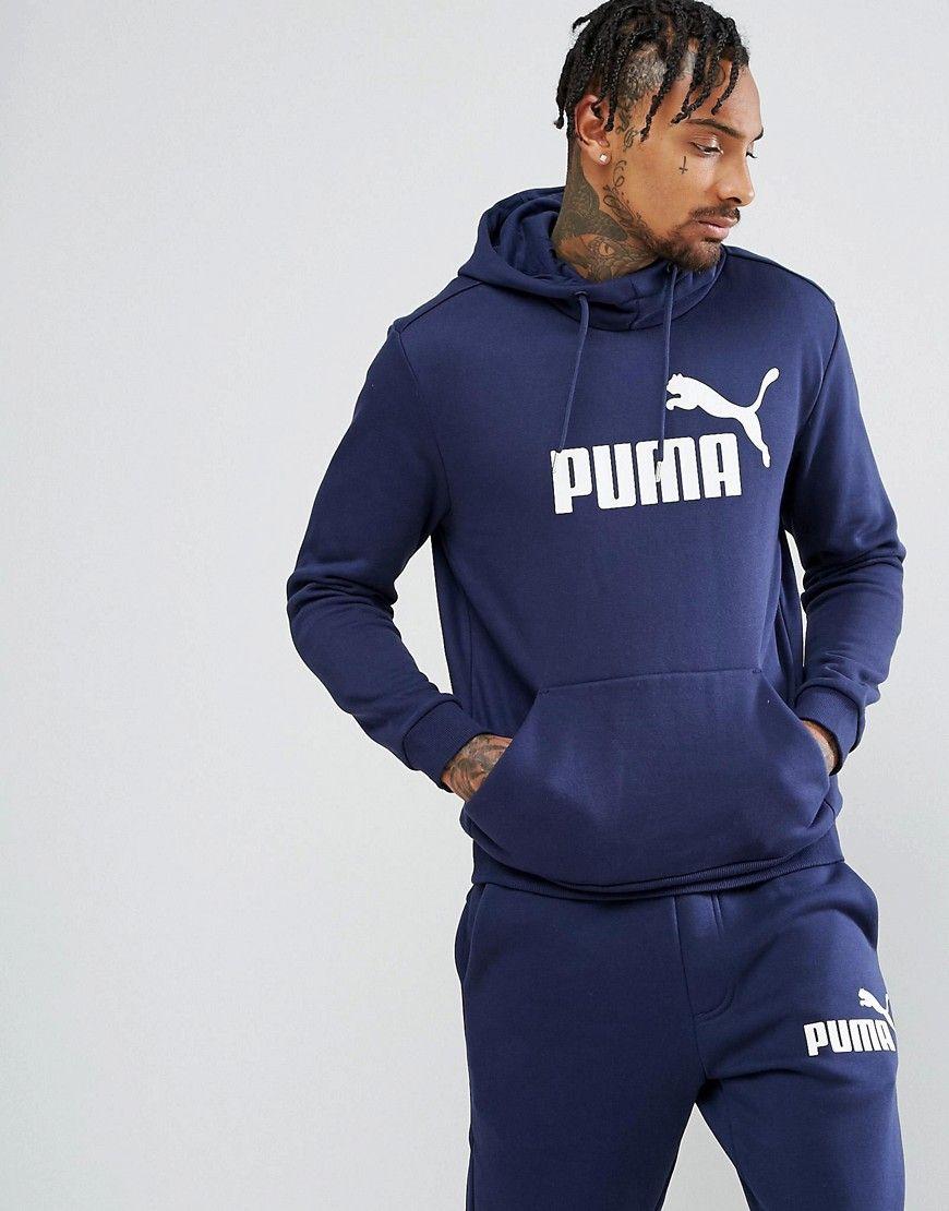 b93aad640c Puma ESS No.1 Pullover Hoodie In Navy 83825706 | Soft Summer ...