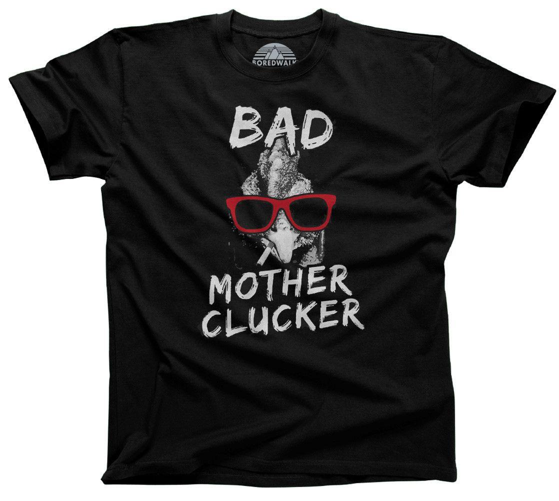 0a6863615f0f Men's Bad Mother Clucker Chicken T-Shirt | 4h | Pun shirts, V neck ...