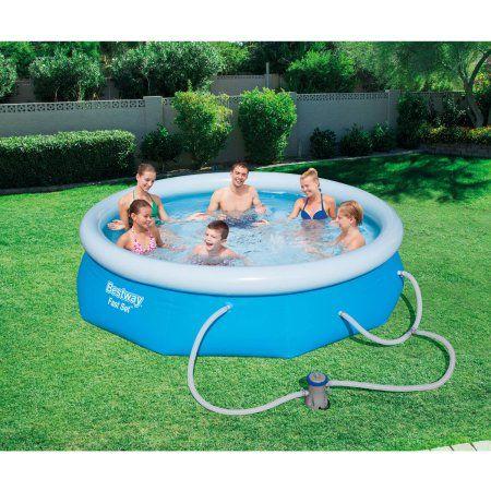 Bestway Fast Set Swimming Pool Set With 330 Gph Filter Pump 10 X