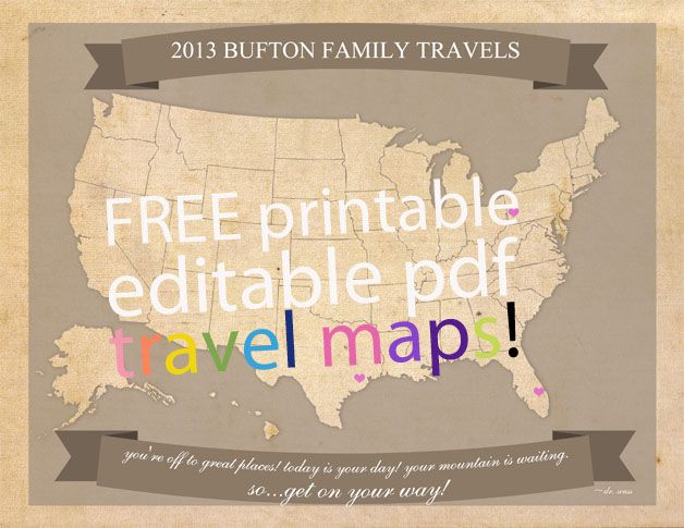 Free editable travel map printable travel maps homeschool and free editable travel map printable gumiabroncs Gallery