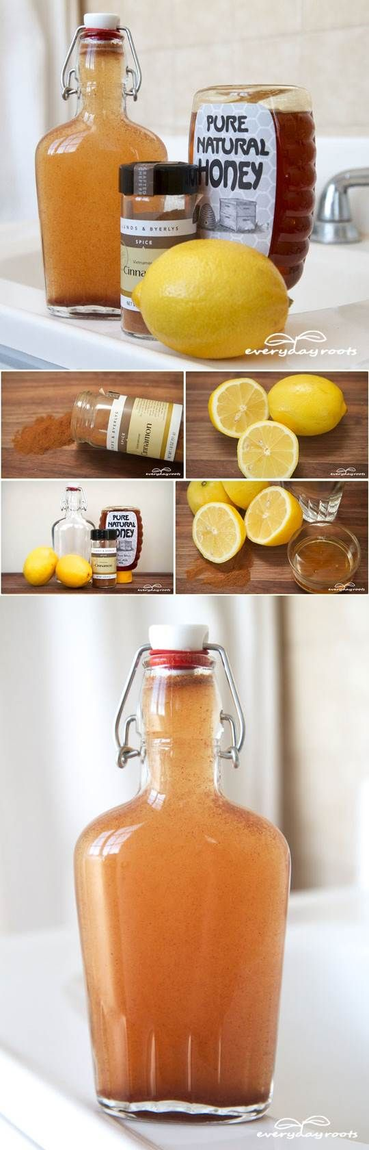 How to get rid of bad breath -2 lemons -1/2 tablespoon of cinnamon -1/2 teaspoon-1 teaspoon baking soda -1 ½ teaspoons of honey -1 cup of warm water -A bottle or jar with a tight fitting lid