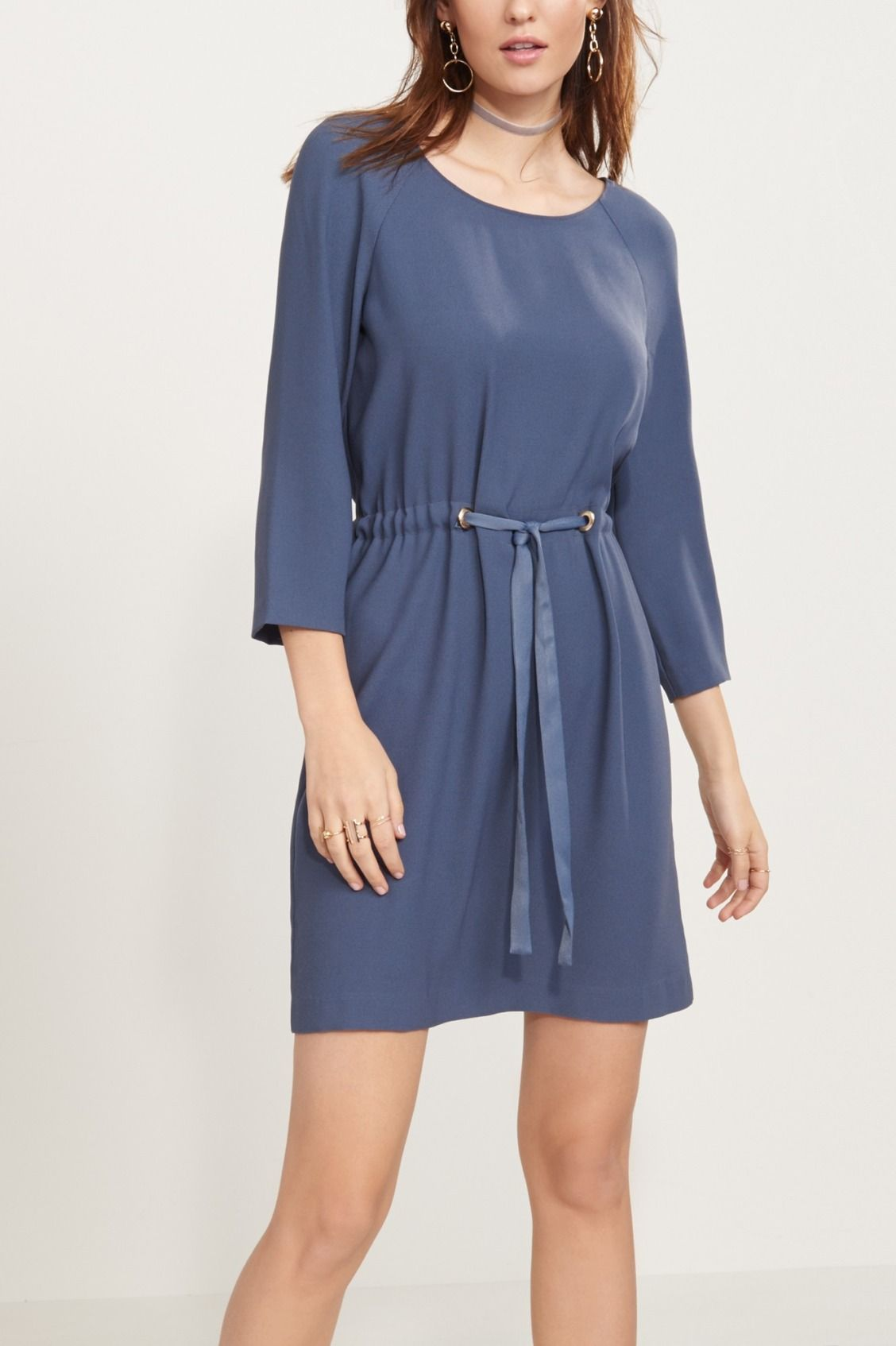 DrawSTRING them along in this stunning dress - Long Sleeve Dress with Drawstring