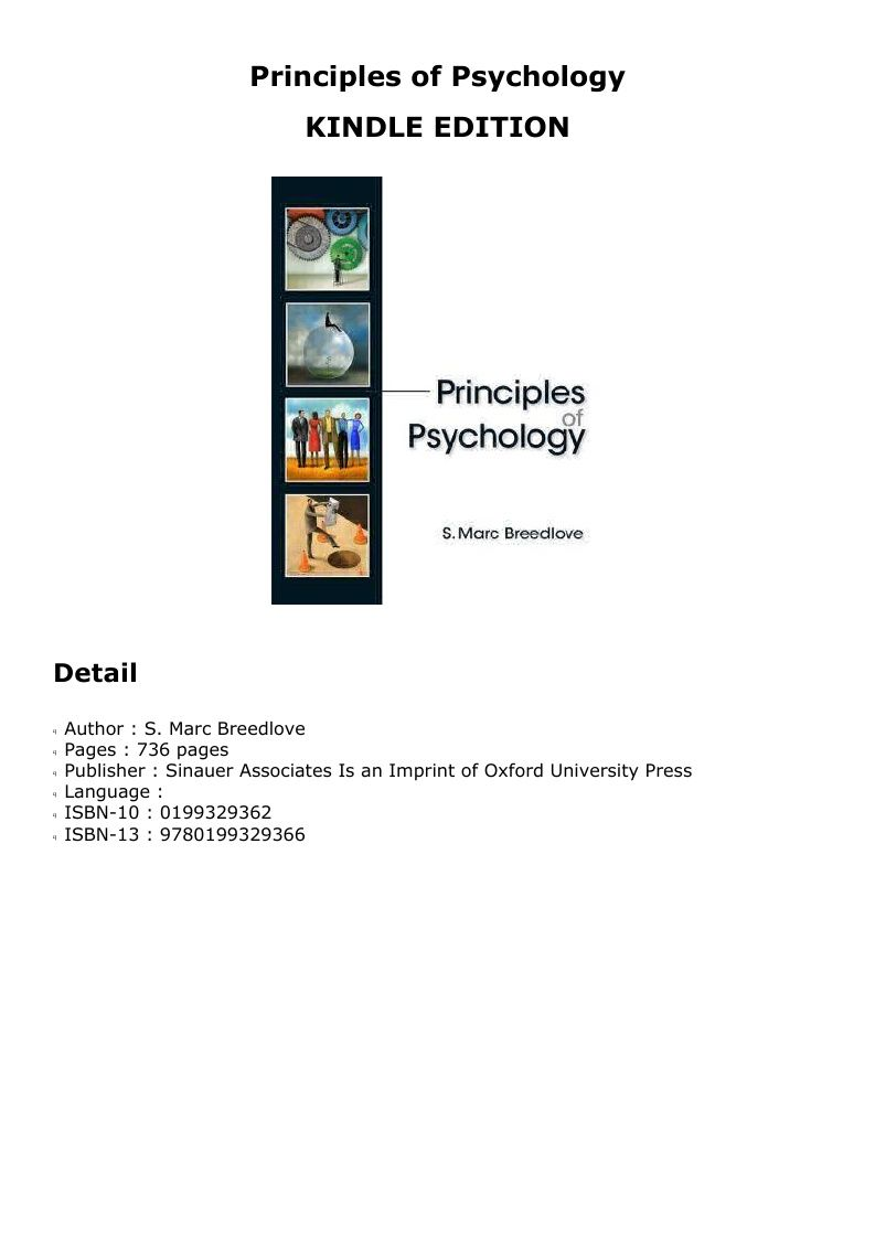 Ebook Principles Of Psychology Psychology Principles Oxford University Press