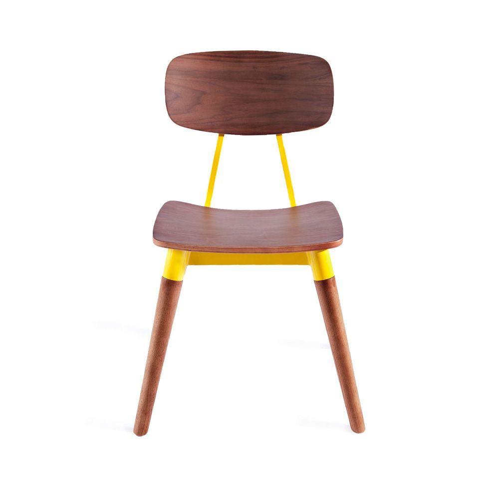 Yellow wood retro school chair d retro home decor ideas for