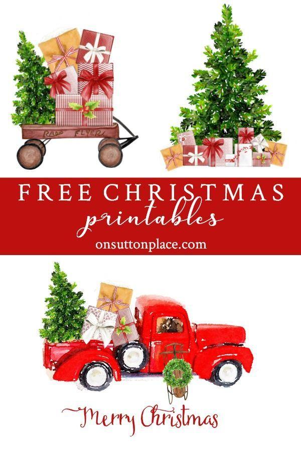 Kostenlose Weihnachts-Printables und DIY-Wanddekor-Ideen. Erhalten ...