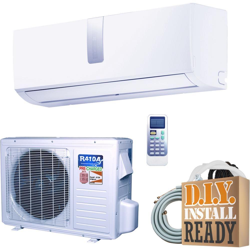 Ramsond Super Efficiency Gwi Series 9 000 Btu 3 4 Ton Inverter Ductless Mini Split Air Conditioner And Heat Pump 230v 60hz White In 2020 Air Conditioner With Heater Heat Pump Home Depot