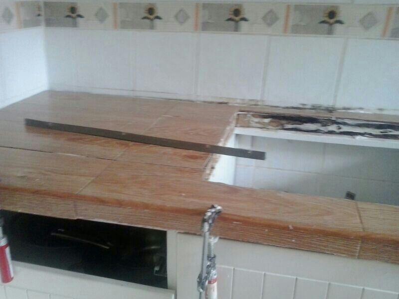 Buenisima idea para cambiar el aspecto de la encimera de la cocina ...