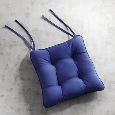 Square Bistro Cushion In Cabana Cobalt