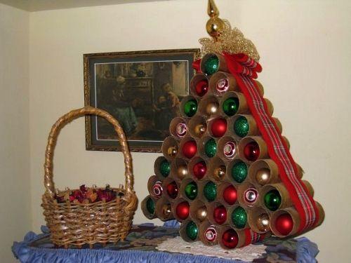 25 Ideas Ingeniosas Para Arboles De Navidad Alternativos - Arbol-de-navidad-artesanal