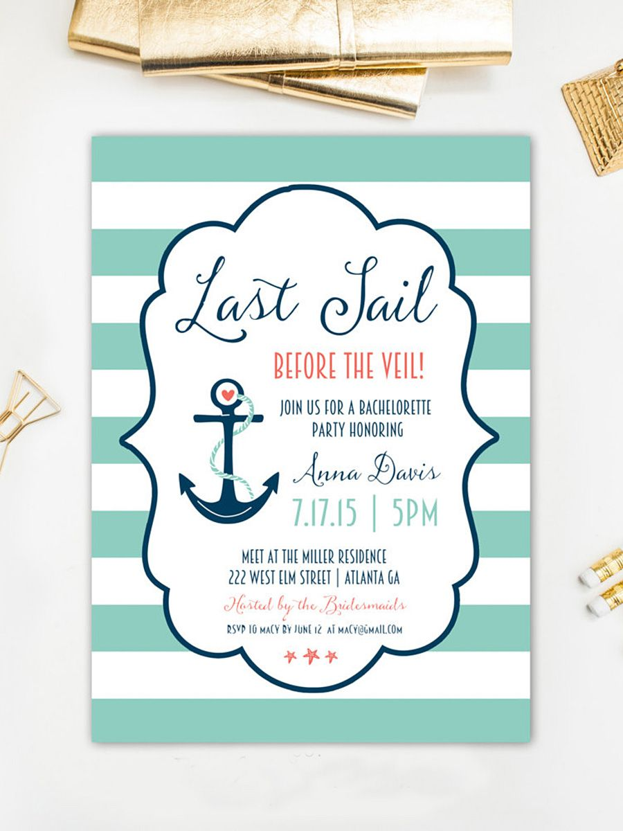 Diyable Bachelorette Party Invitation Templates  Bachelorette