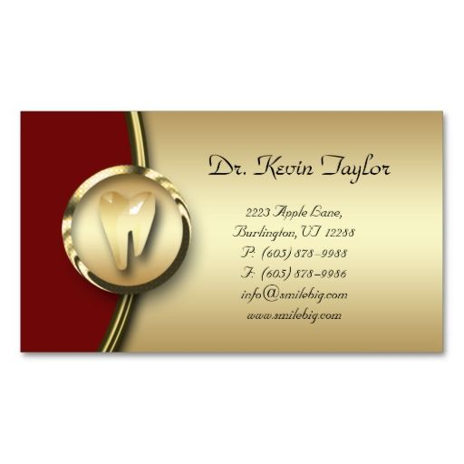 Dental molar business card gold metal red dental business cards dental molar business card gold metal red colourmoves