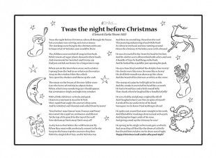 Print Off This Twas The Night Before Christmas Poem Template Written About St Nicholas Christmas Poems Christmas Poetry The Night Before Christmas