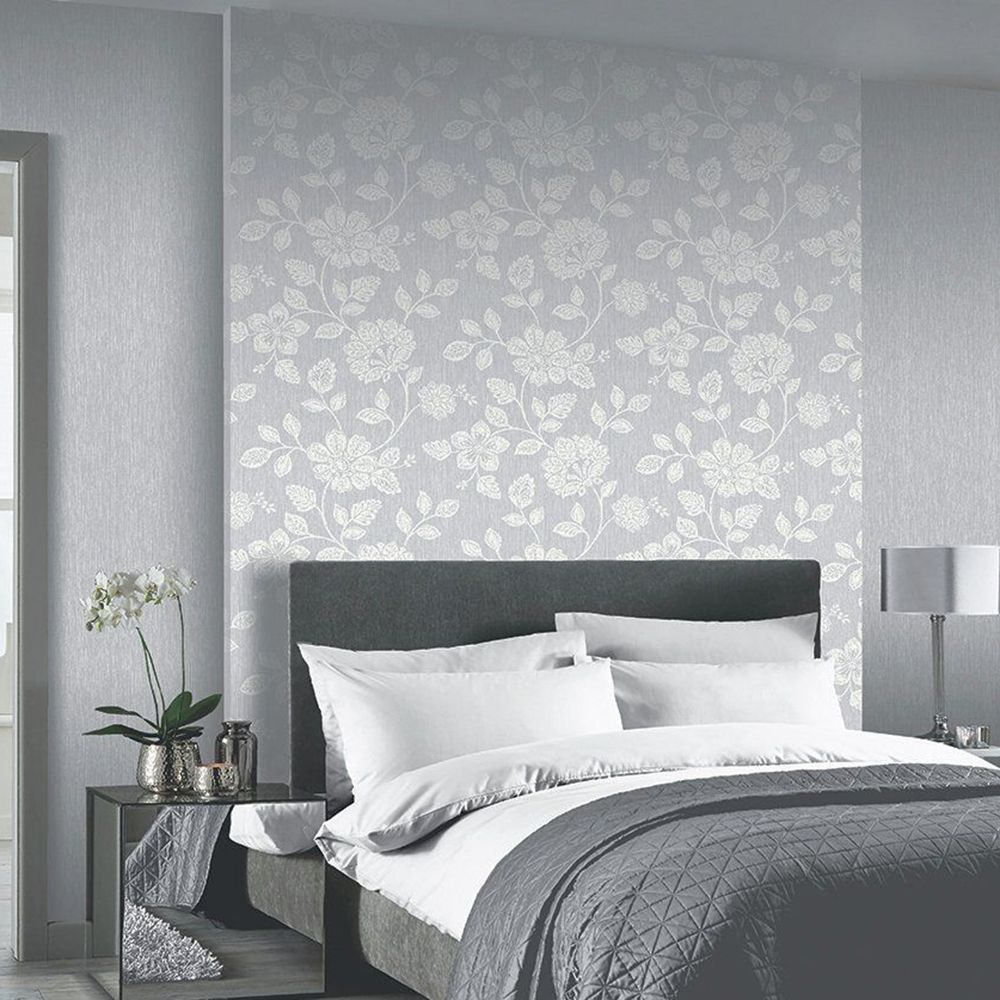 Arthouse Oslo Floral Trail Wallpaper Grey 892600 Wallpaper Walls Decor Wallpaper Trends Wallpaper Decor
