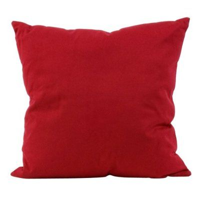 Solid Red Cotton Decorative Pillow Cover - 16 18 and 20 Inch Available - BESTSELLER The o jays ...