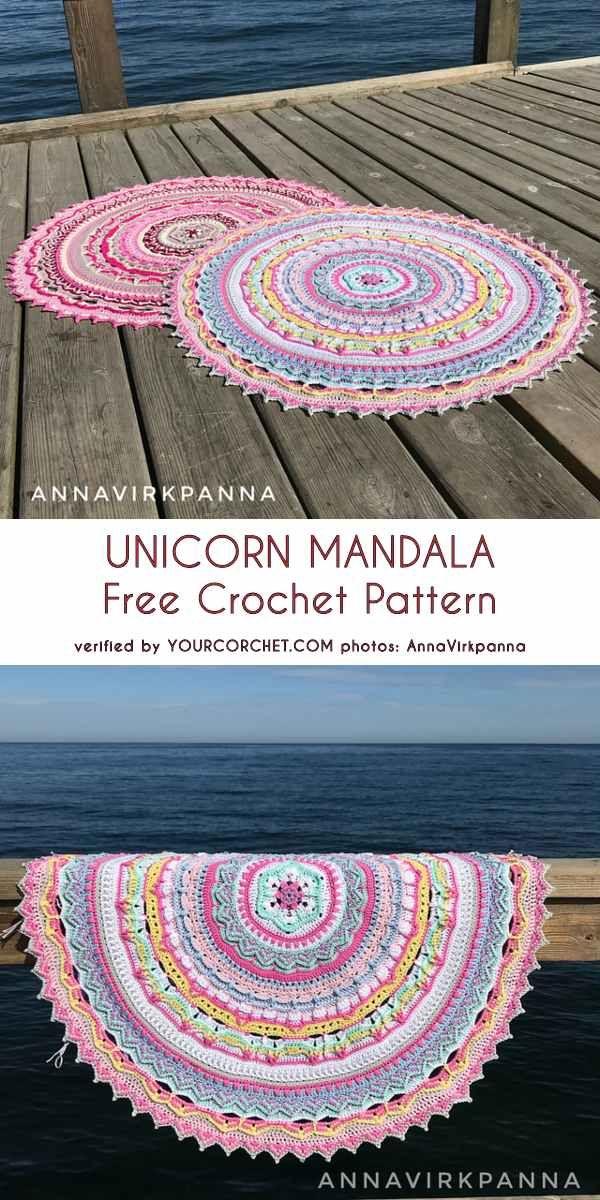 0-3-unicorn-mandala-free-crochet-pattern #crochetmandalapattern