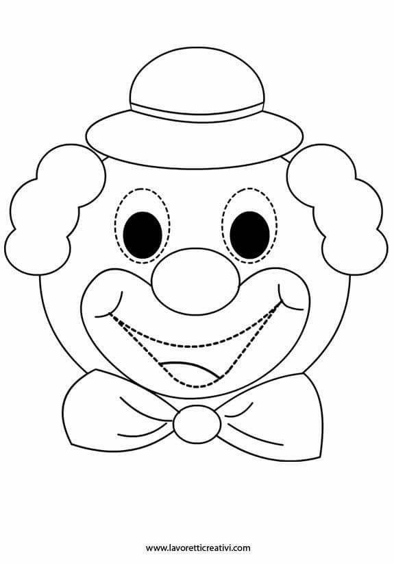 Palhaco Artesanato De Palhaco Circo Pre Escolar E Mascaras De