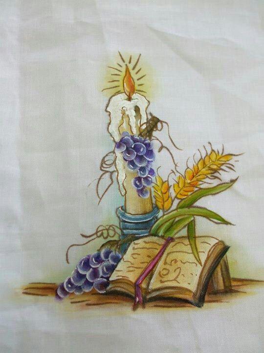 Pintura en tela pintura tela pinterest communion - Pintura en tela motivos navidenos ...