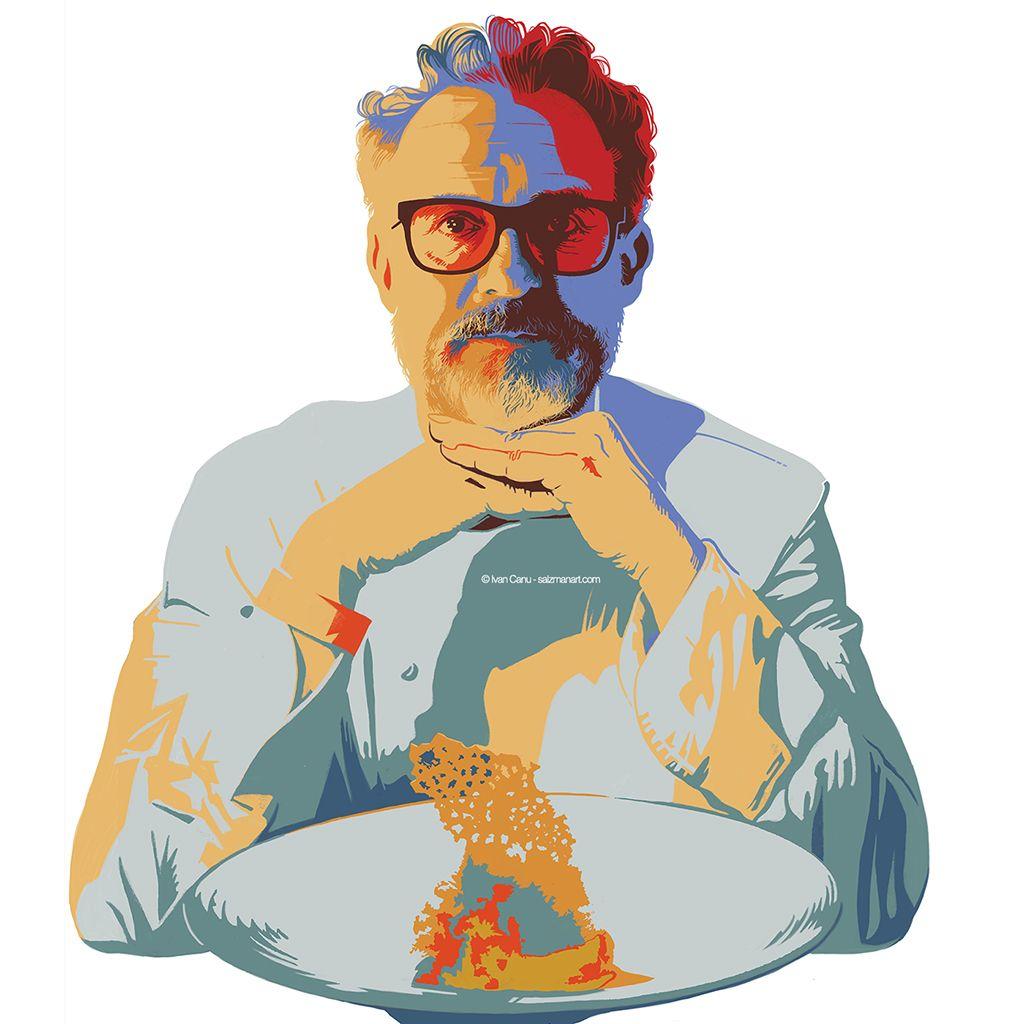 Ivan Canu Salzmanart Com Portrait Of The Italian Chef Massimo