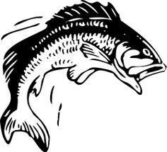 Walleye Jumping Out Of Water Silhouette Google Search Fish Silhouette Fish Clipart Fish Coloring Page