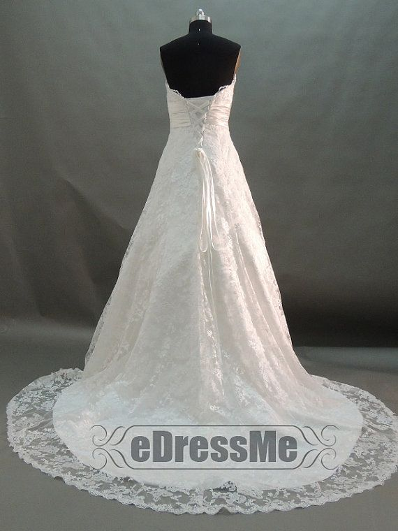 discountElegant Sweetheart Lace Bridal Gown Floor by eDressMe