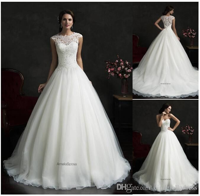 Wedding Dresses With Prices Hot Sale Amelia Sposa 2015 High Neck
